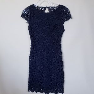 Alice + Olivia embroidered lace lined dress 2